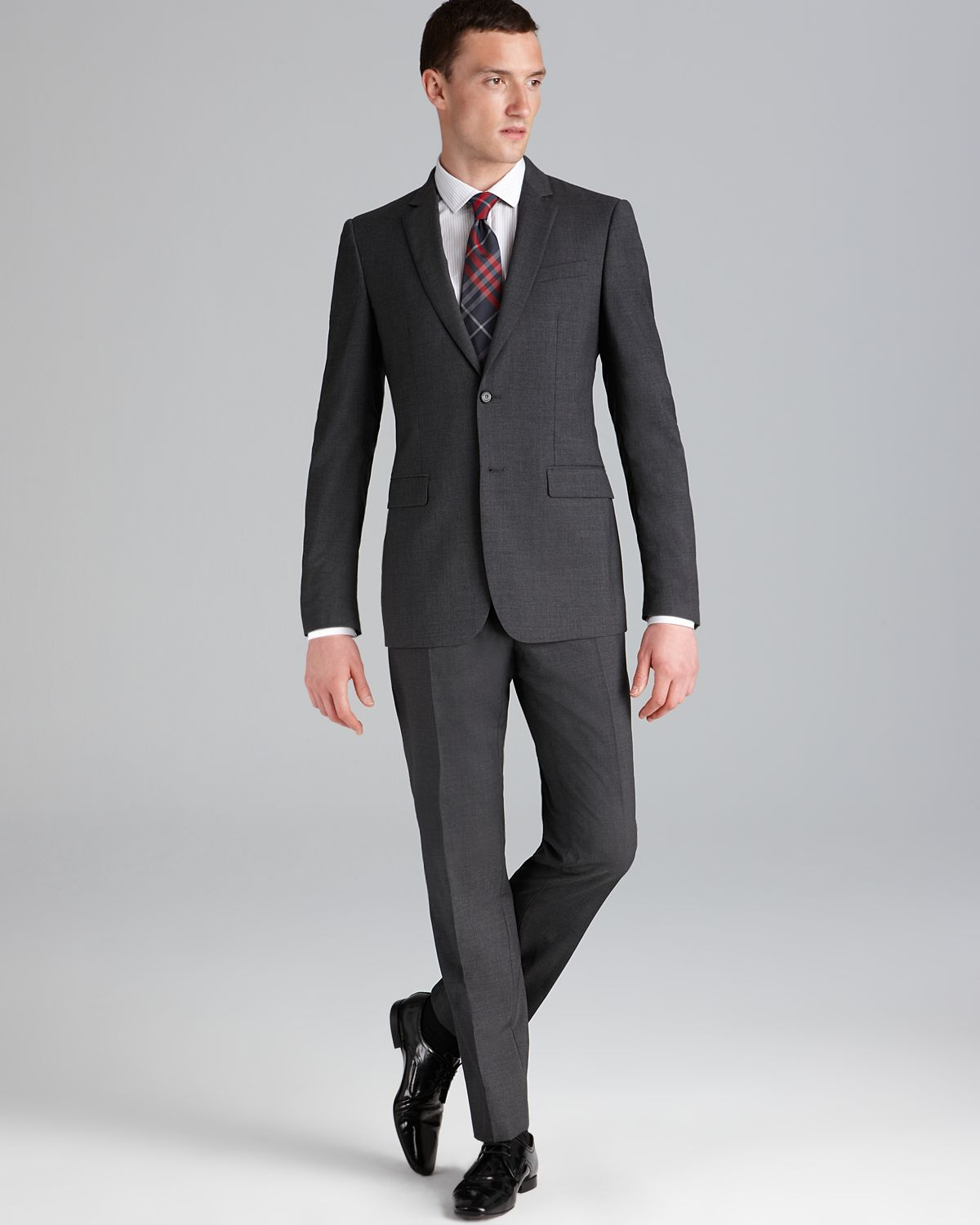 Burberry London Milbury Suit Contemporary Fit in Black for ...