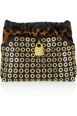 Burberry Prorsum Calf Hair and Leather Clutch - Lyst