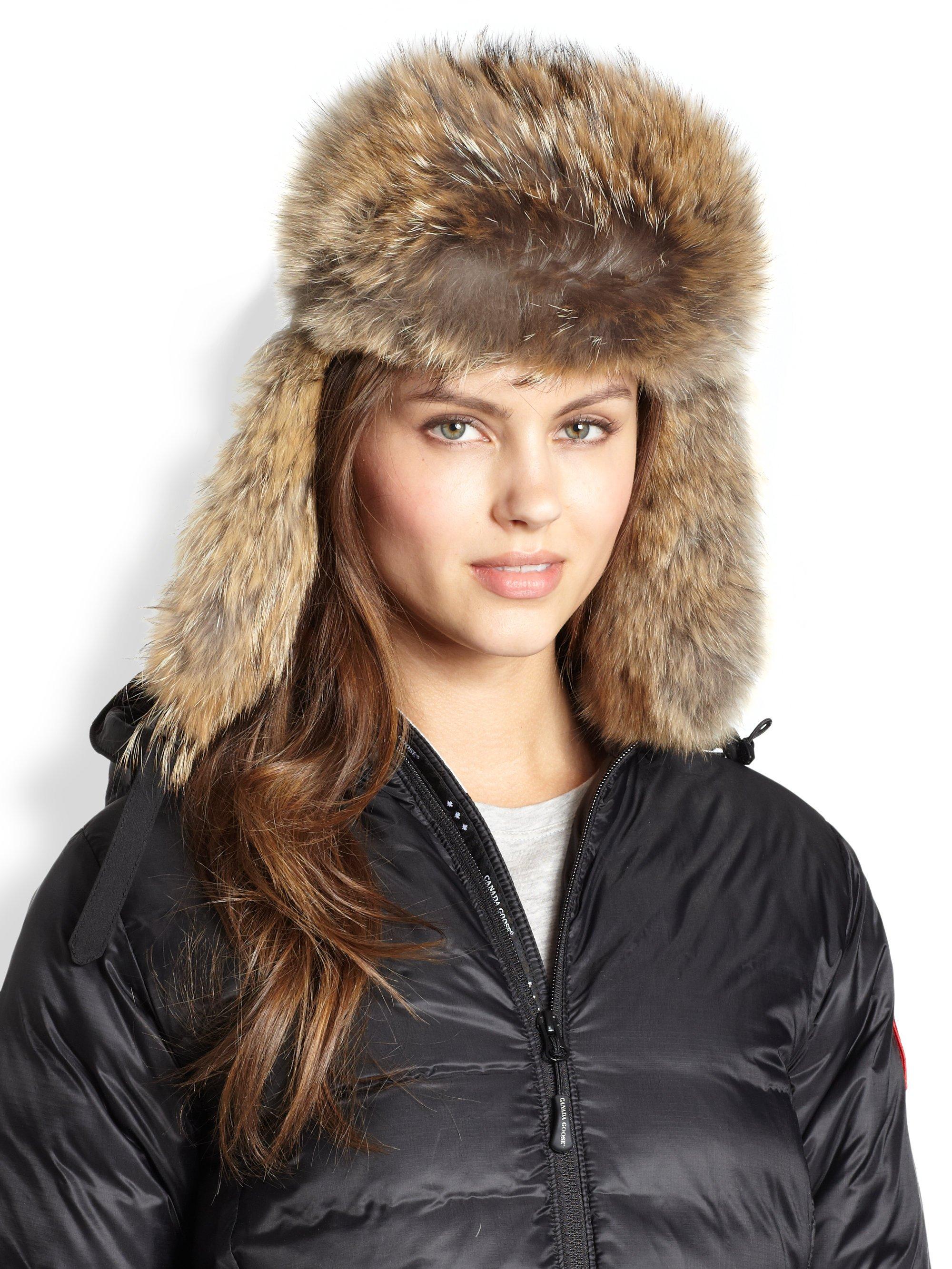 Canada Goose kensington parka sale fake - Canada goose Fur-Trimmed, Down Aviator Hat in Brown (BLACK) | Lyst