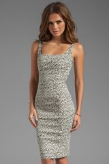 Diane Von Furstenberg Bridget Snake Wave Jacquard Dress in White - Lyst