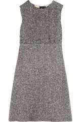 Dolce & Gabbana Herringbone Wool Dress - Lyst