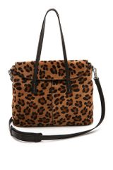 Elizabeth And James Print Haircalf Satchel - Lyst