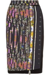 Etro Printed Crepe Pencil Skirt - Lyst