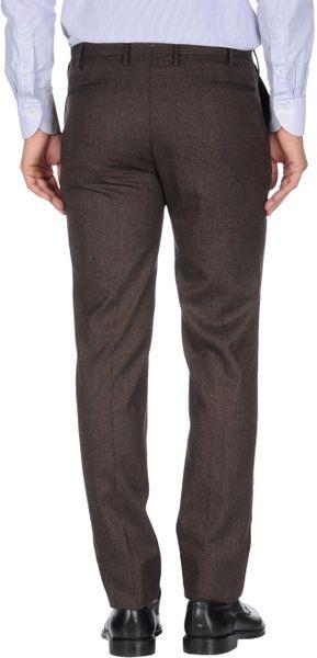 Incotex Dress Pants In Brown For Men Dark Brown Lyst