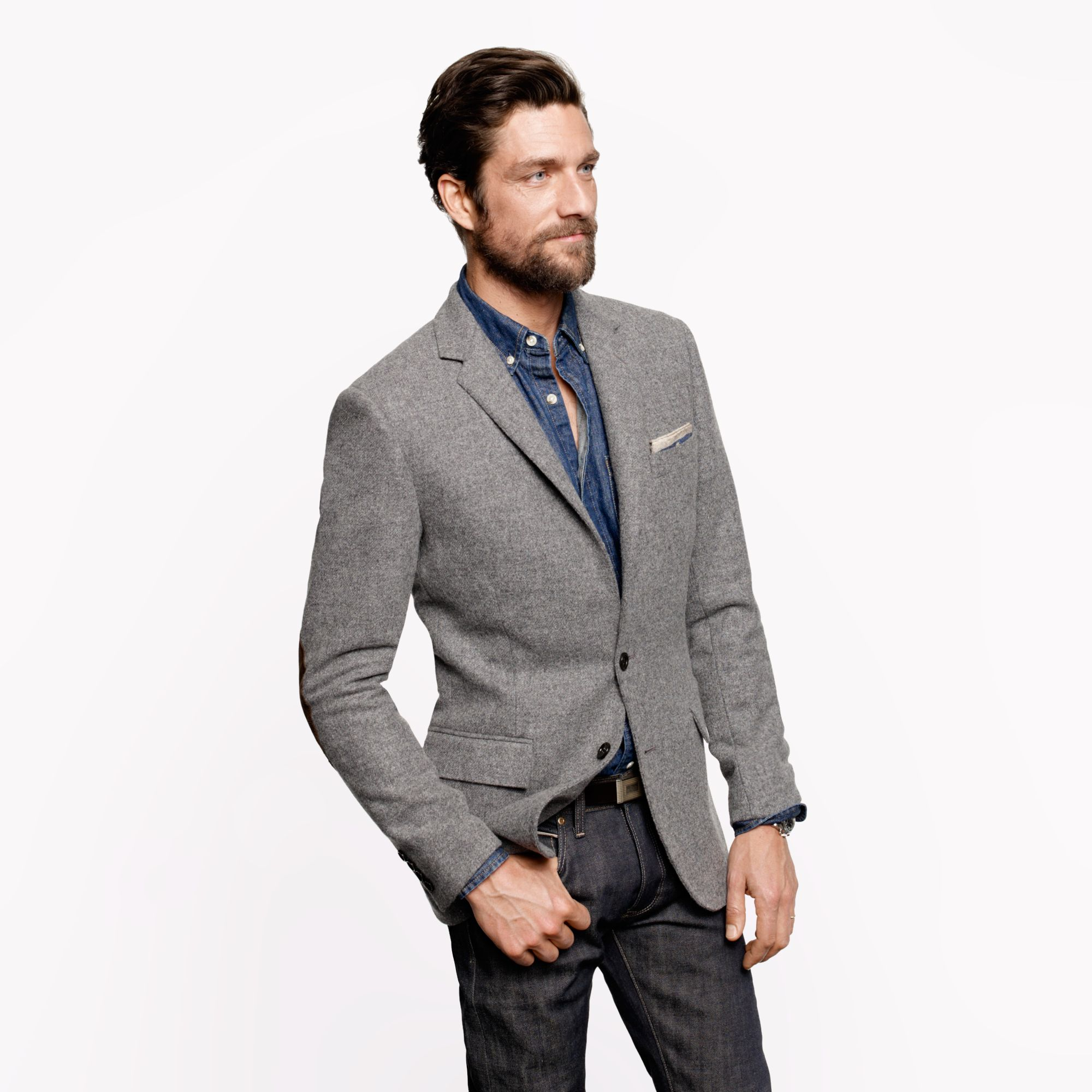J.crew Ludlow Elbow-patch Sportcoat In Colburn English Tweed in