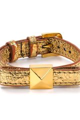 Kate Spade Locked in Thin Leather Bow Bracelet - Lyst