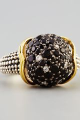 Lagos Nightfall Sterling Silver18k Black Spinel Sphere Ring - Lyst