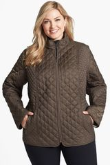Laundry By Shelli Segal Diamond Quilted Jacket - Lyst