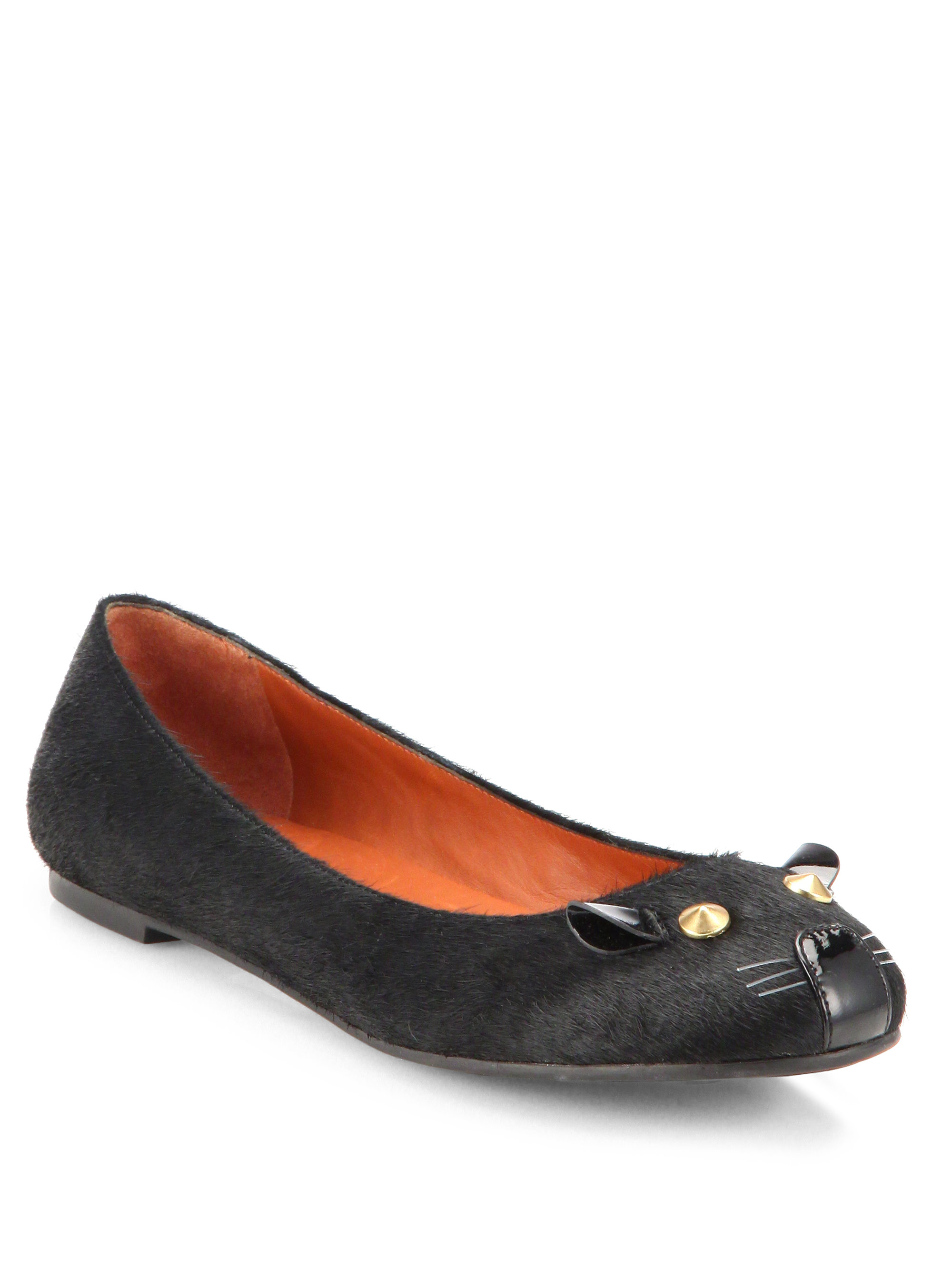 208337517982 Lyst - Marc By Marc Jacobs Pony Hair Mouse Ballet Flats in Black
