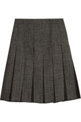 Marni Organza and Wool Blend Tweed Skirt - Lyst