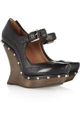 McQ by Alexander McQueen Studded Leather Mary Jane Pumps - Lyst