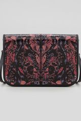 McQ by Alexander McQueen Bugprint Leather Crossbody Bag - Lyst