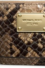Michael Kors Multifunctional Mockpython Leather Phone Case - Lyst