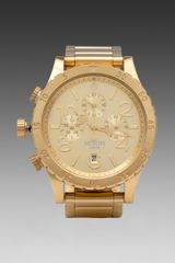 Nixon The 4820 Chrono in Metallic Gold - Lyst