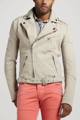 Pierre Balmain Cotton Biker Jacket - Lyst