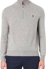 Ralph Lauren Zip-neck Jumper - Lyst