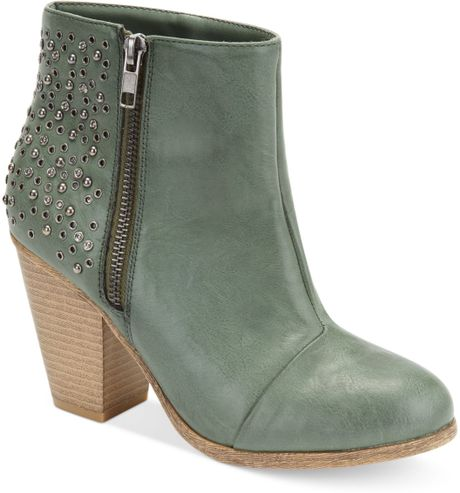 Rampage Valorie Booties in Green - Lyst