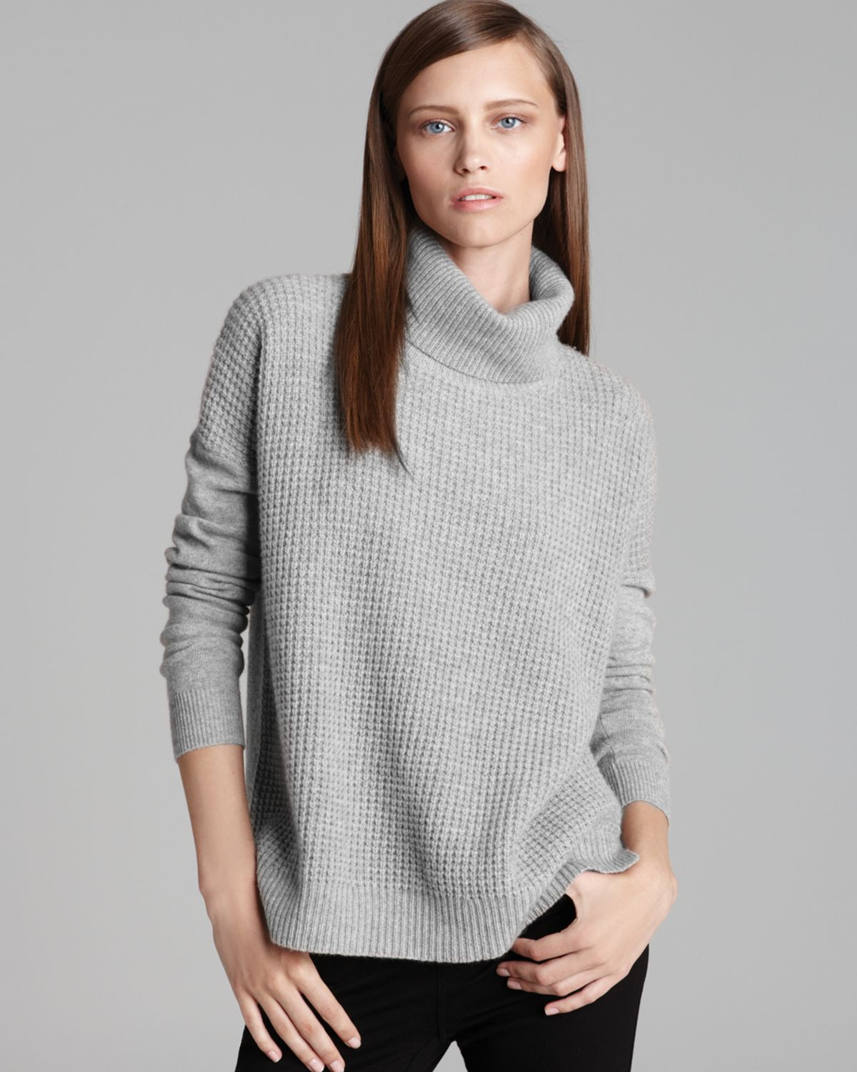 Theory Sweater Aldanta Cashmere Turtleneck in Gray | Lyst