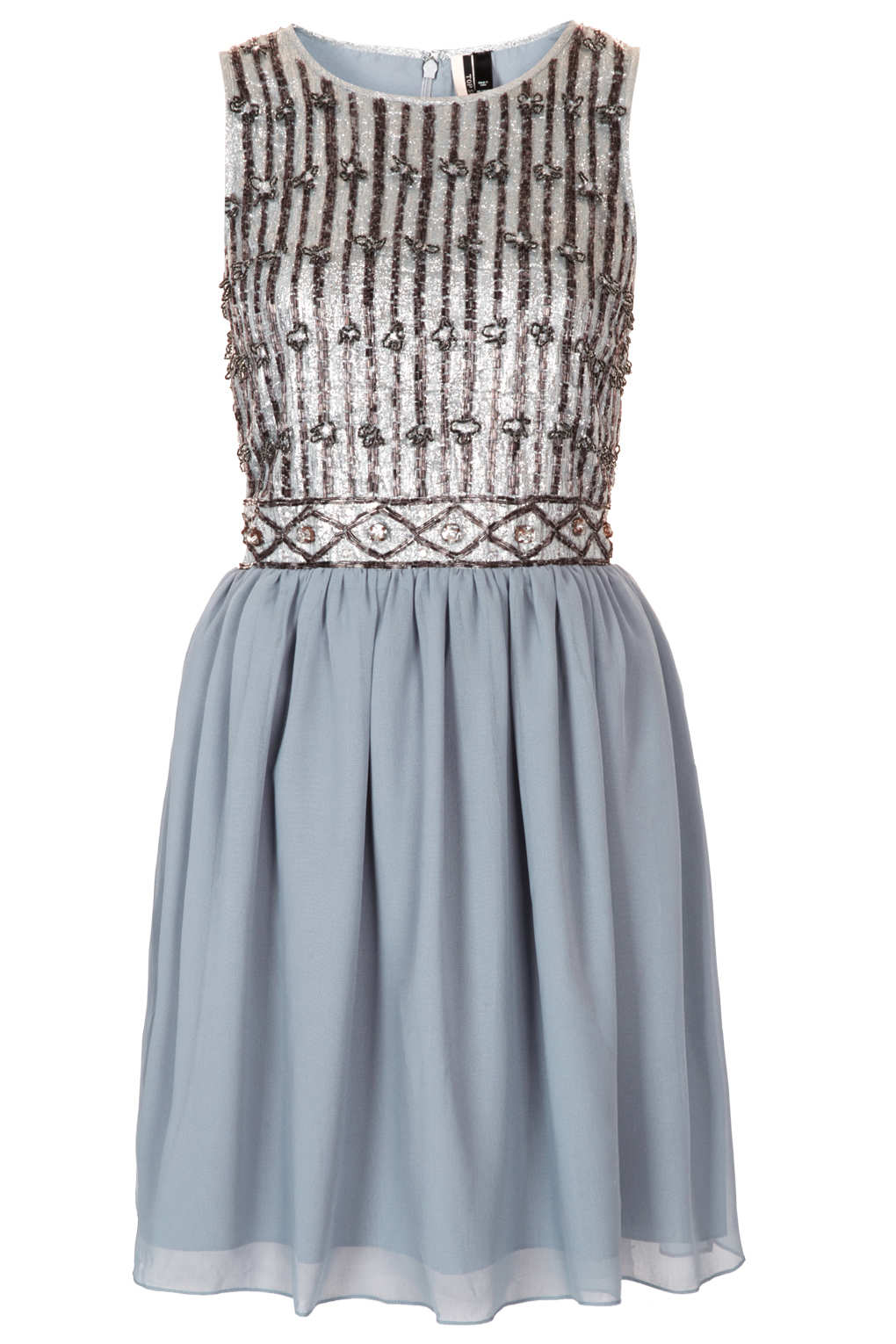 Lyst - Topshop Embellished Prom Dress in Metallic