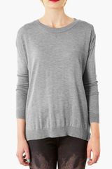 Topshop Contrast Back Sweater - Lyst