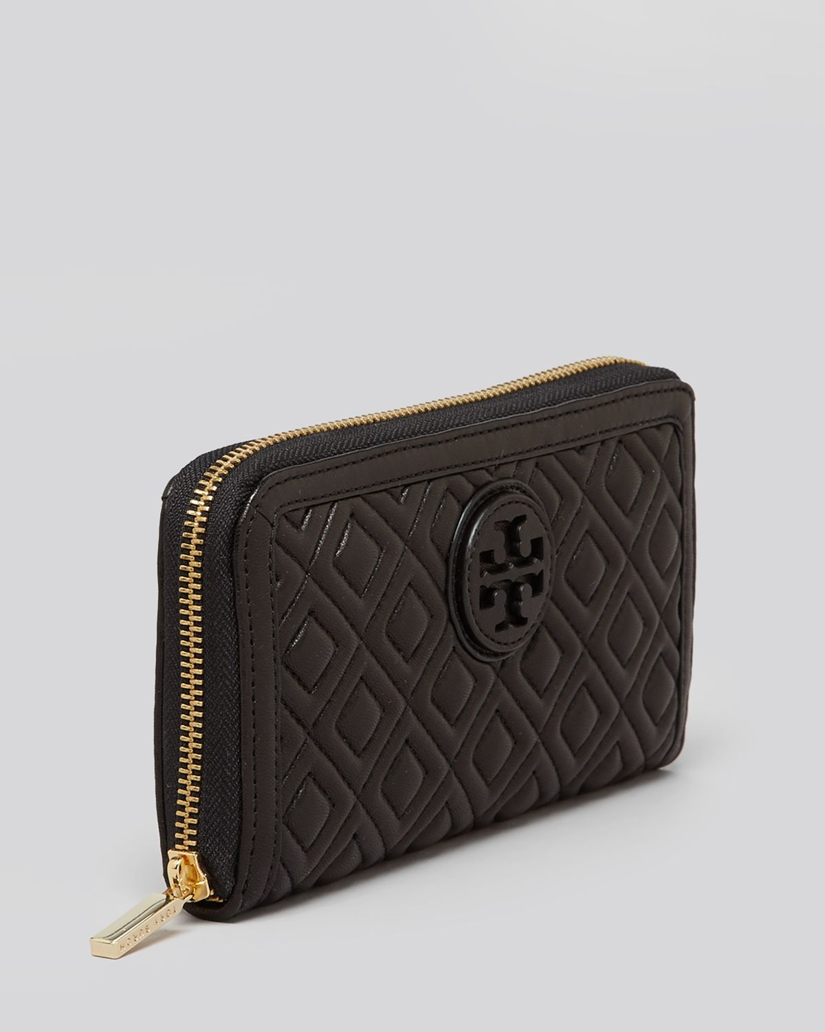 Lyst Tory Burch Wallet Marion Zip Continental In Black