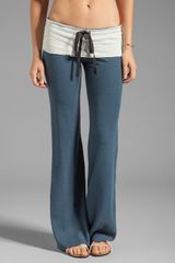 Tylie Wide Leg Space Dye Pant in Slate - Lyst