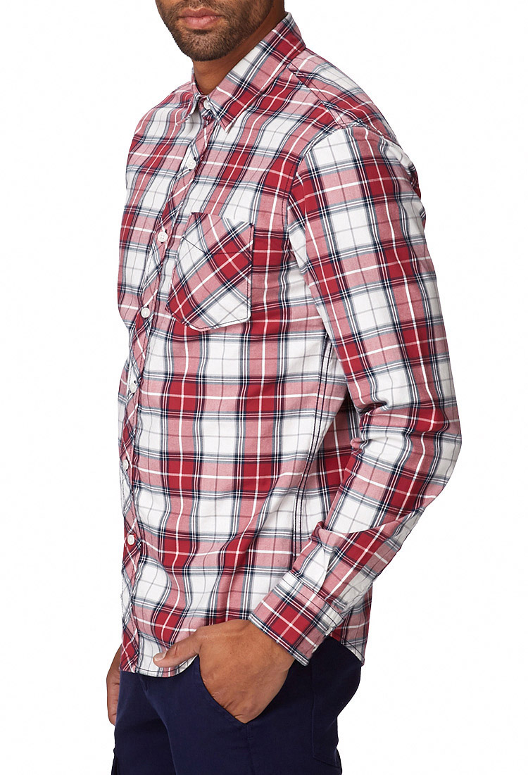 Red and white plaid shirt mens artee shirt for Red and white plaid shirt mens