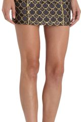 Balmain Scale Mini Skirt - Lyst