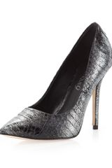 Boutique 9 Justine Glitter Pump Black Snake - Lyst