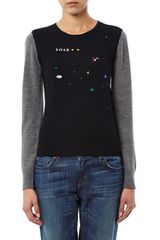 Boy by Band Of Outsiders Atari Asteroid Intarsia Knit Sweater - Lyst