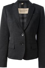 Burberry Brit Cotton and Wool Blend Blazer - Lyst