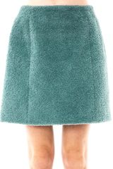 Carven Curly Tweed Skirt - Lyst