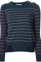 Carven Striped Sweater - Lyst