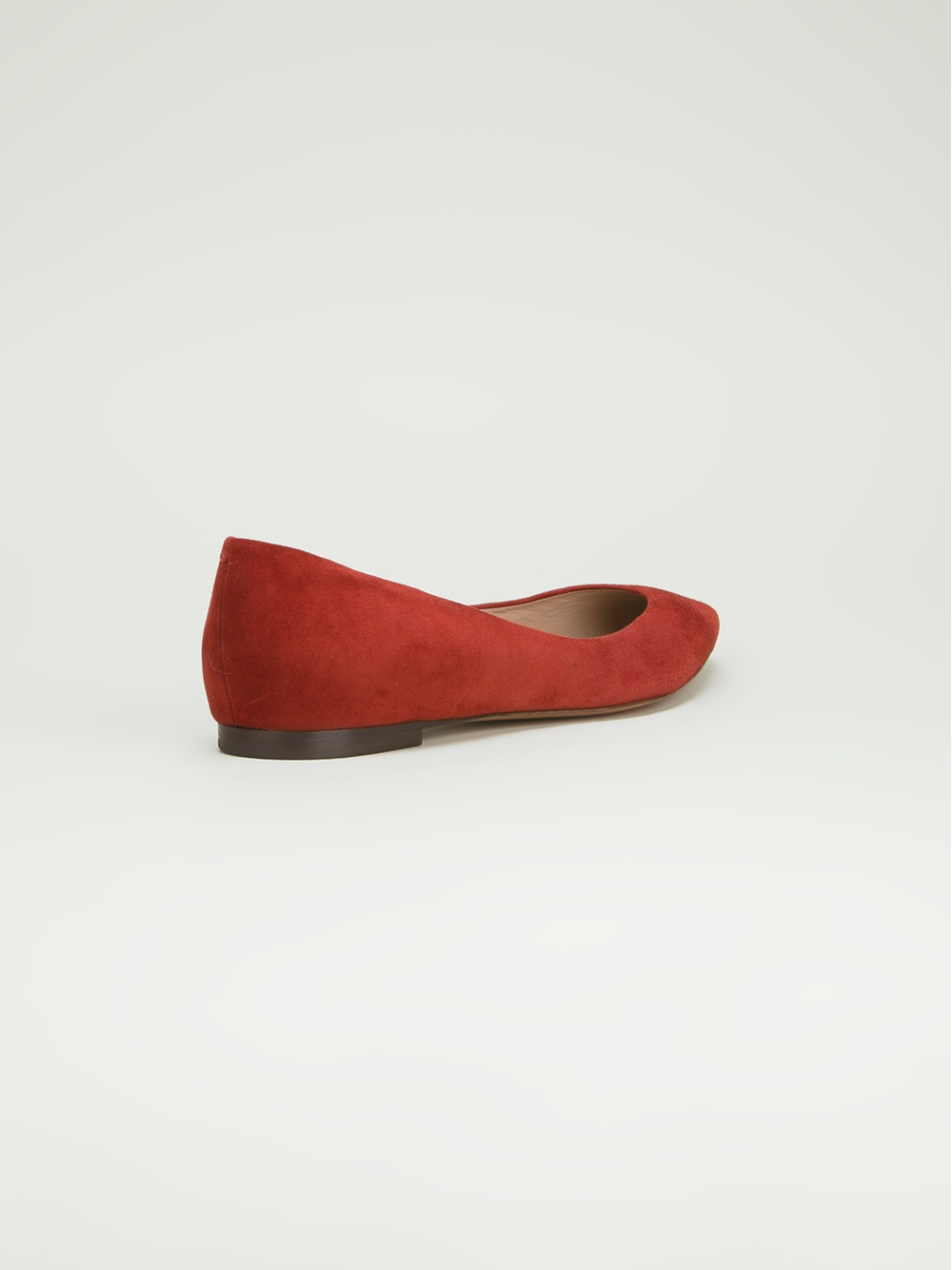 Lyst Chlo 233 Pointed Toe Ballet Flat In Red