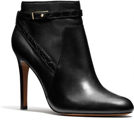 Coach Ursa Bootie in Black (BLACK/BLACK)