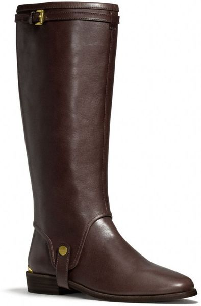 coach leona boot in brown chestnut lyst