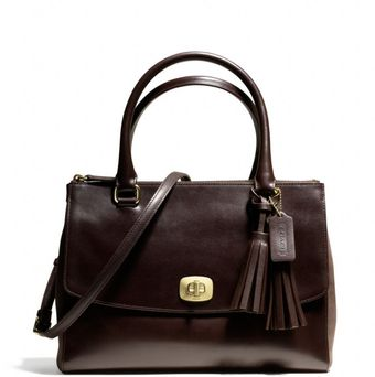 Coach Legacy Pinnacle Harper Triple Zip Satchel in Polished Leather - Lyst