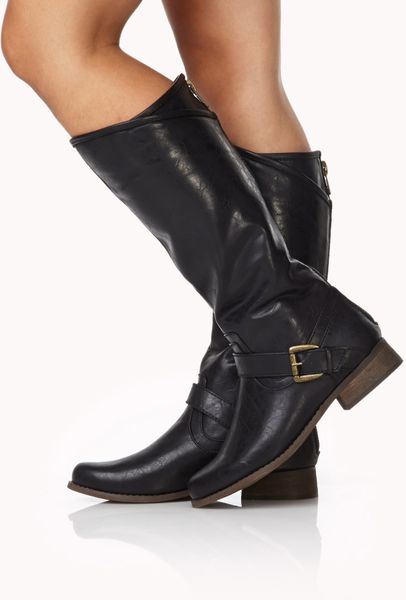 Forever 21 Equestrian Riding Boots In Black Lyst