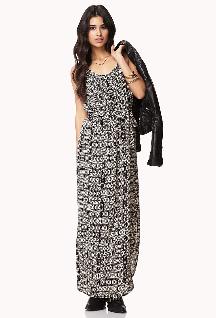 Forever 21 Tribal Print Maxi Dress in Brown  Lyst