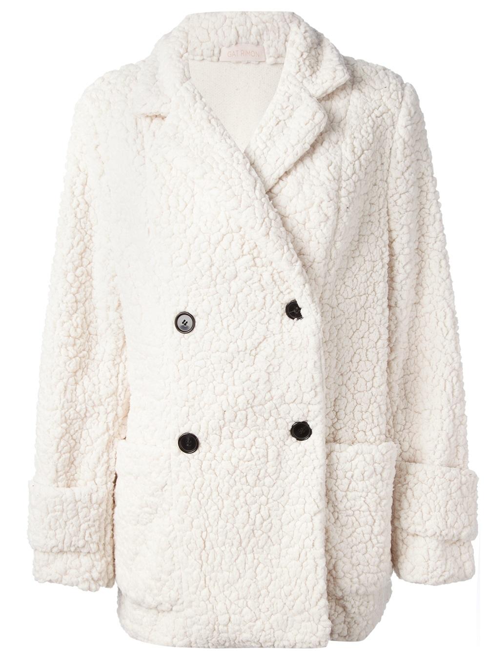 White Fleece Coat Sm Coats