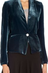 Girl. By Band Of Outsiders Velvet Blazer - Lyst