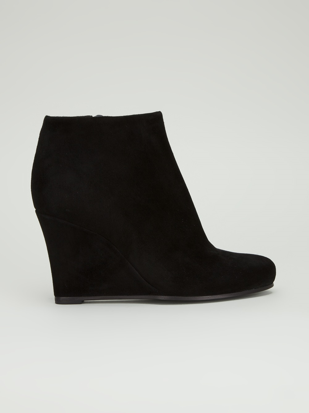 Jil sander Wedge Ankle Boot in Black | Lyst