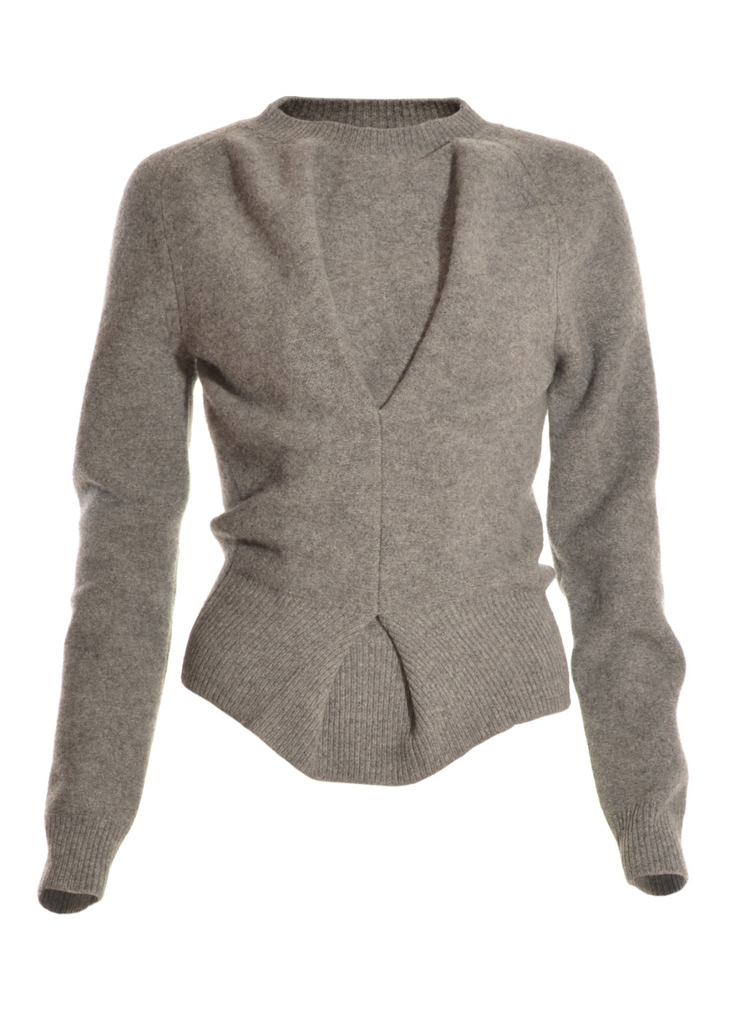 J.w.anderson Grey Twisted Boiled Wool Sweater in Gray | Lyst