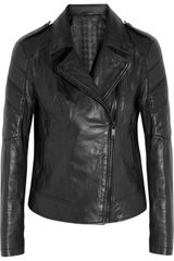 Karl Lagerfeld Bethina Leather Biker Jacket - Lyst