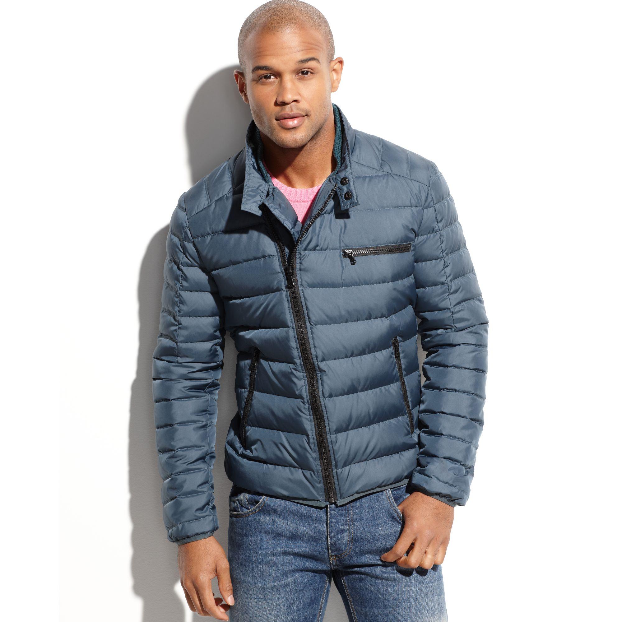 Lyst Kenneth Cole Asymmetrical Down Puffer Jacket In