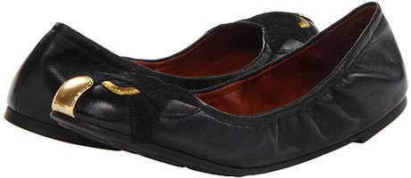 Marc By Marc Jacobs Cat Ballerina Flats in Black