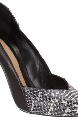 Narciso Rodriguez Snakeskin stamped Pointed Toe Pump - Lyst