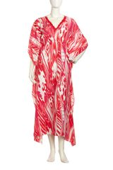 Natori Gathered Ikat Caftan  - Lyst