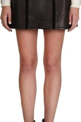 Rag & Bone Louise Leather Skirt - Lyst
