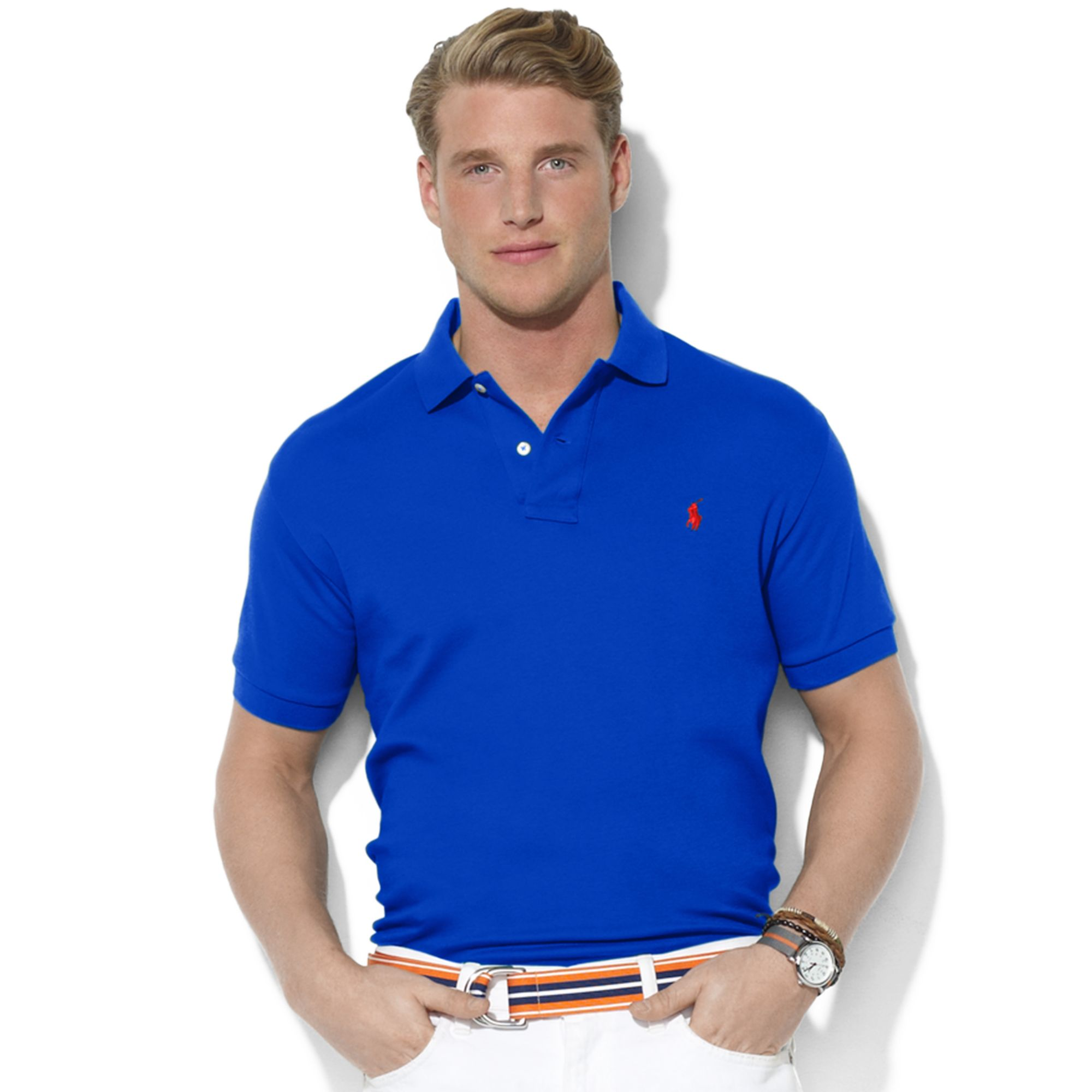 Polo ralph lauren Royal Blue Classic Logo T-shirt in Blue